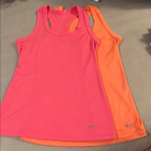 2 Nike Dry Fit New without tags size small